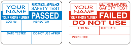 Pat Test labels